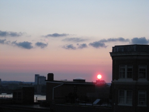 sunset on the roofdeck